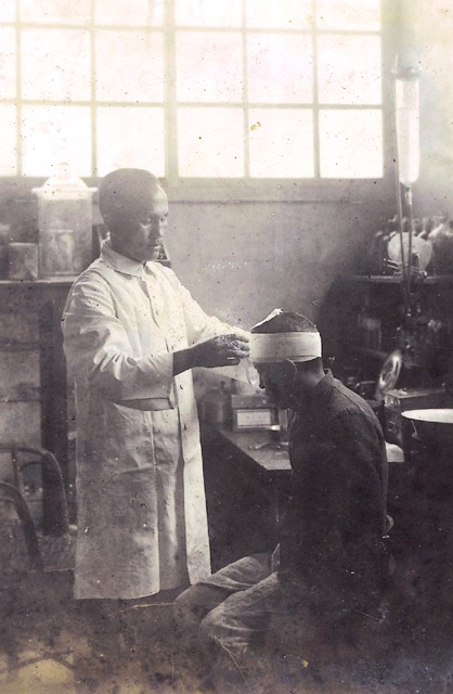 1932年於角板村醫療溪口台地開水圳受傷者