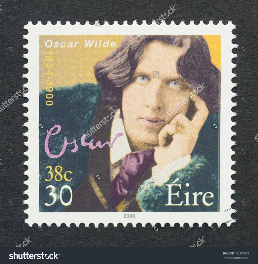 stock-photo-ireland-circa-a-postage-stamp-printed-in-ireland-showing-an-image-of-writer-oscar-wilde-162396953